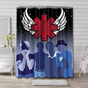 Red Hot Chili Peppers Rock Band Waterproof Shower Curtain Bathroom