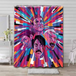 Red Hot Chili Peppers Rock Band Waterproof Bathroom Shower Curtain
