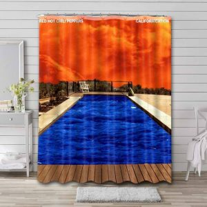 Red Hot Chili Peppers Shower Curtain Bathroom Decoration Waterproof Polyester Fabric.