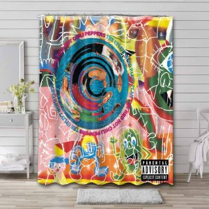 Red Hot Chili Peppers The Uplift Mofo Party Plan Shower Curtain Bathroom Waterproof