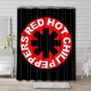 Red Hot Chili Peppers Shower Curtain Bathroom Waterproof