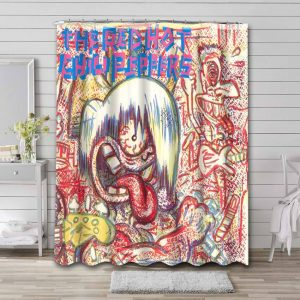 The Red Hot Chili Peppers Bathroom Curtain Shower Waterproof