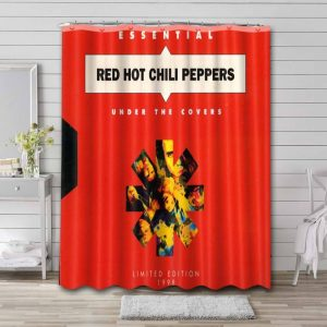 Red Hot Chili Peppers Under the Covers Essential Shower Curtain Bathroom Waterproof