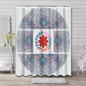 Red Hot Chili Peppers Shower Curtain Bathroom Decoration