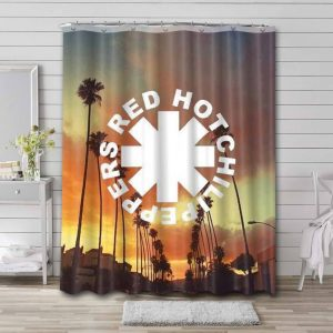 Red Hot Chili Peppers Shower Curtain Waterproof Polyester