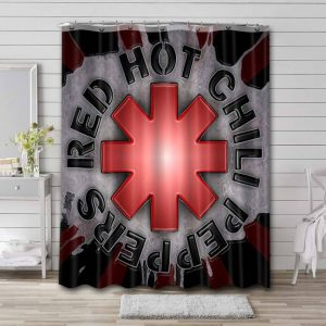 Red Hot Chili Peppers Waterproof Bathroom Shower Curtain