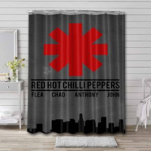 Red Hot Chili Peppers Bathroom Curtain Shower Waterproof