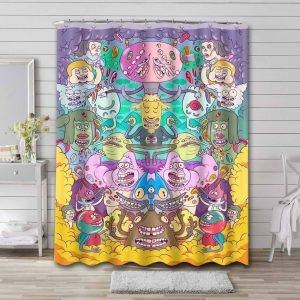 Regular Show All Characters Shower Curtain Waterproof Polyester