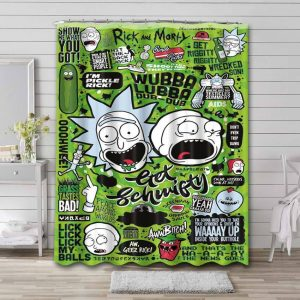 Rick and Morty Adventure Shower Curtain Bathroom Decoration