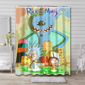 Rick and Morty Show Waterproof Bathroom Shower Curtain