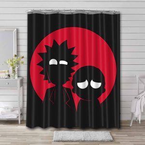 Rick and Morty Shower Curtain Bathroom Waterproof