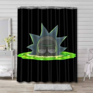 Rick and Morty Show Shower Curtain Bathroom Decoration