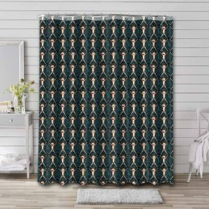 Rick and Morty Patterns Bathroom Curtain Shower Waterproof