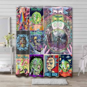 Rick and Morty All Shows Waterproof Curtain Bathroom Shower
