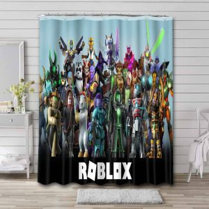 Roblox Characters Shower Curtain Bathroom Decoration