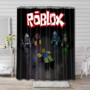 Roblox Characters Shower Curtain Waterproof Polyester