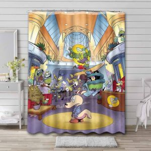 Rocko's Modern Life Show Shower Curtain Waterproof Polyester