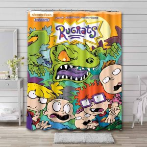 Rugrats Show Shower Curtain Waterproof Polyester
