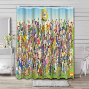 Rugrats Characters Shower Curtain Bathroom Decoration