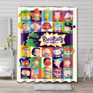 Rugrats Characters Shower Curtain Waterproof Polyester