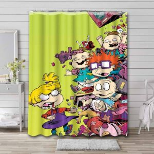 Rugrats Shower Curtain Waterproof Polyester