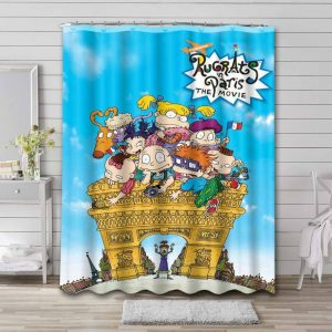 Rugrats Shower Curtain Bathroom Decoration Waterproof Polyester Fabric.