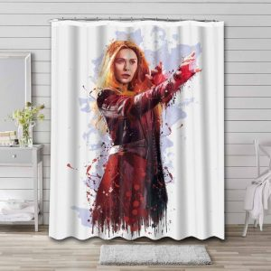 Wanda Maximoff Scarlet Witch Avengers Shower Curtain Waterproof Polyester