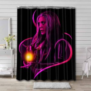 Scarlet Witch Wanda Maximoff Shower Curtain Waterproof Polyester