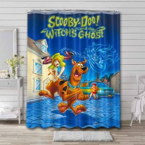 Scooby Doo Whitch Ghost Shower Curtain Bathroom Waterproof