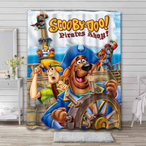 Scooby Doo Pirates Ahoy Shower Curtain Waterproof Polyester