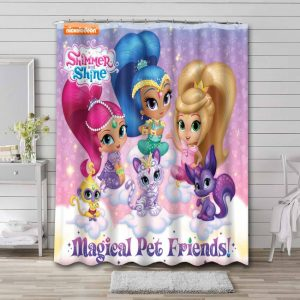 Shimmer and Shine Show Shower Curtain Bathroom Decoration