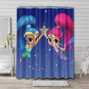 Shimmer and Shine Show Shower Curtain Waterproof Polyester