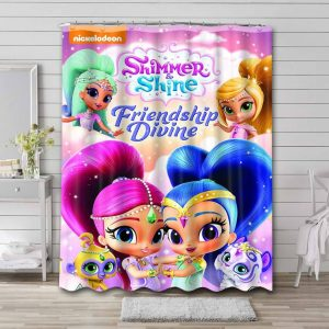 Shimmer and Shine Shower Curtain Bathroom Decoration