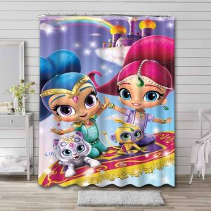 Shimmer and Shine Shower Curtain Waterproof Polyester