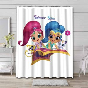 Shimmer and Shine Bathroom Shower Curtain Waterproof