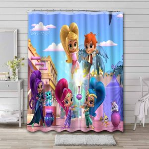 Shimmer and Shine Waterproof Shower Curtain Bathroom