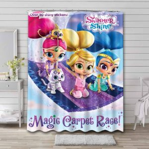 Shimmer and Shine Waterproof Bathroom Shower Curtain