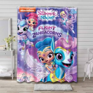 Shimmer and Shine Bathroom Curtain Shower Waterproof