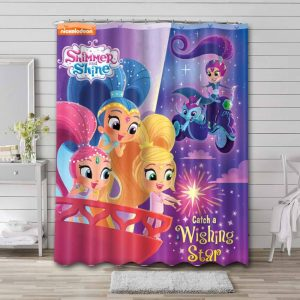 Shimmer and Shine Show Waterproof Curtain Bathroom Shower