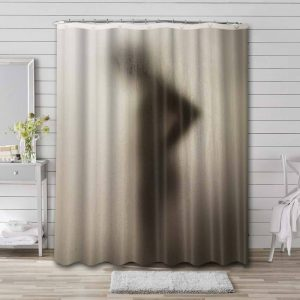 Silhouette Shadow Girl Shower Curtain Waterproof Polyester