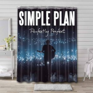 Simple Plan Perfectly Perfect Shower Curtain Waterproof Polyester