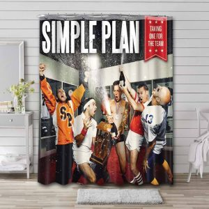 Simple Plan Taking One for the Team Bathroom Shower Curtain Waterproof