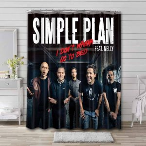 Simple Plan I Don't Wanna Go To Bed Waterproof Shower Curtain Bathroom