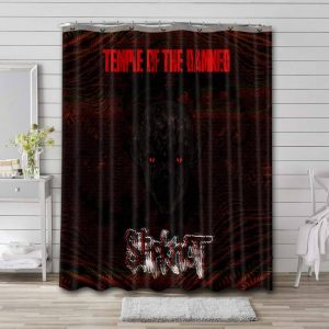 Slipknot Temple Of The Damned Shower Curtain Waterproof Polyester