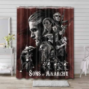 Sons of Anarchy Characters Shower Curtain Bathroom Waterproof
