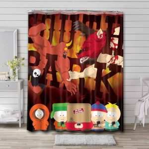 South Park Kids Shower Curtain Waterproof Polyester