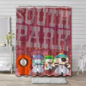 South Park Shows Bathroom Curtain Shower Waterproof