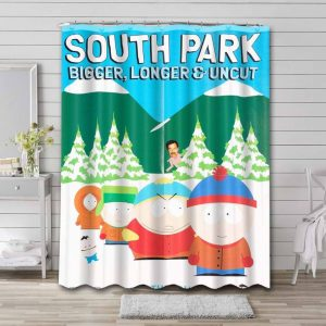 South Park Shows Shower Curtain Bathroom Waterproof