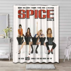 Spice Girls Who Do You Think You Are Shower Curtain Bathroom Waterproof