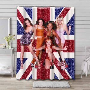 Spice Girls Shower Curtain Waterproof Polyester